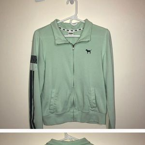 mint green pink sweatshirt